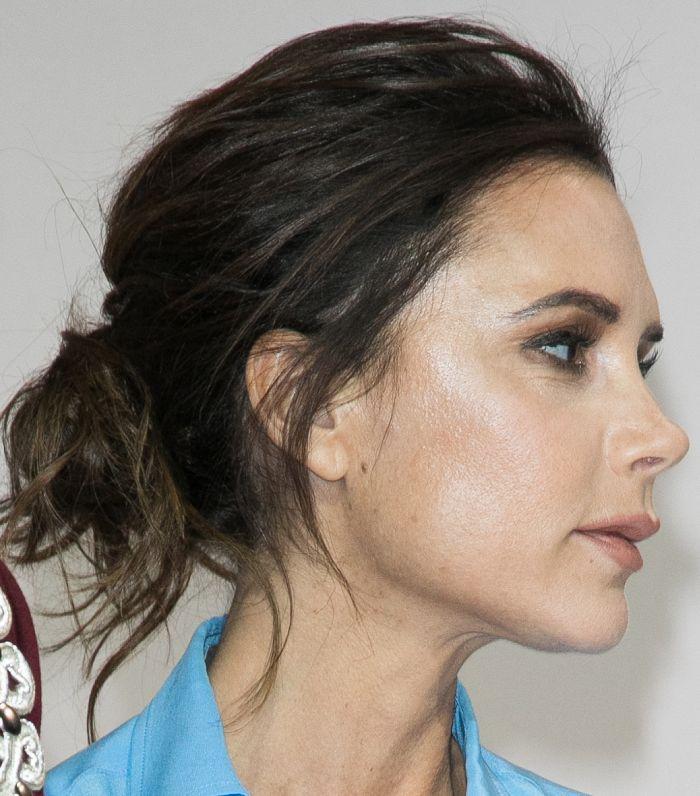 Victoria Beckham Hair: Victoria Beckham with messy updo