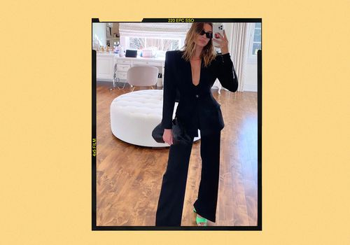 Hailey Bieber Black Blazer Outfit Style