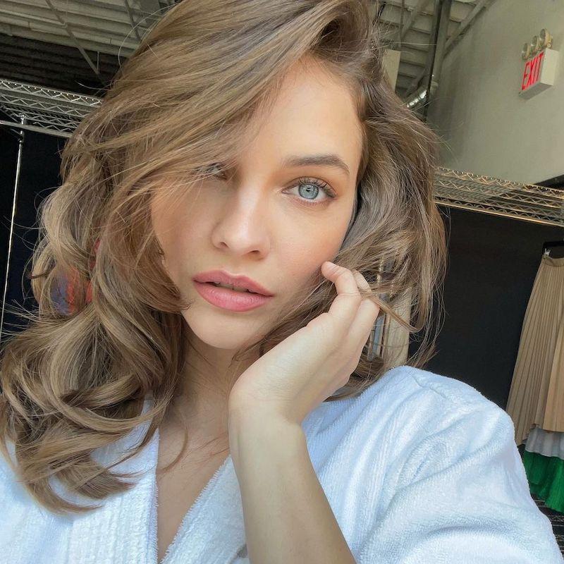 Brown Hair Color Barbara Palvin
