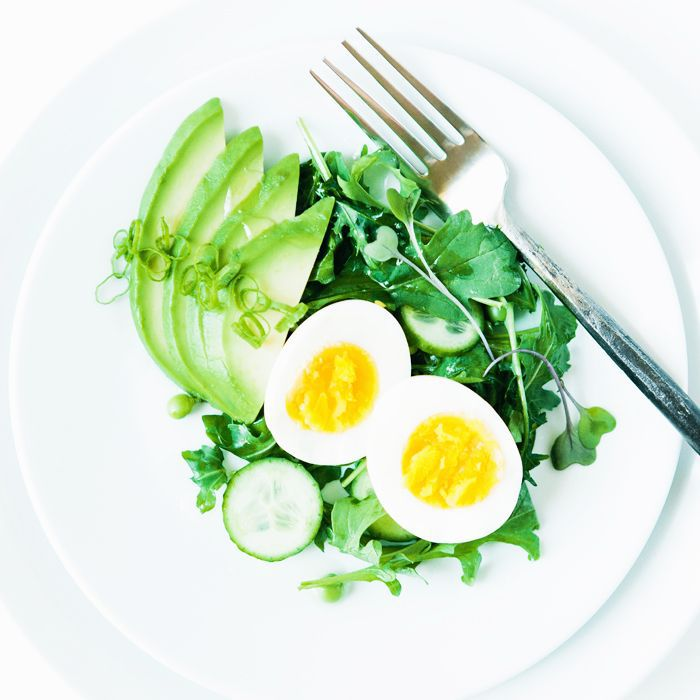 food for health: Plate of green veg and eggs