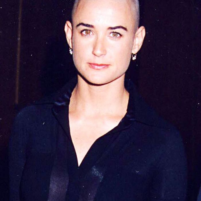 buzz-cut-women: Demi Moore with her buzz cut for G.I. Jane