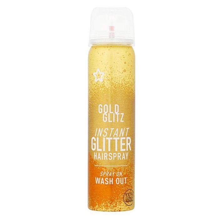 Haris metallic hair bar review:: Superdrug Gold Glitz Instant Glitter Hairspray