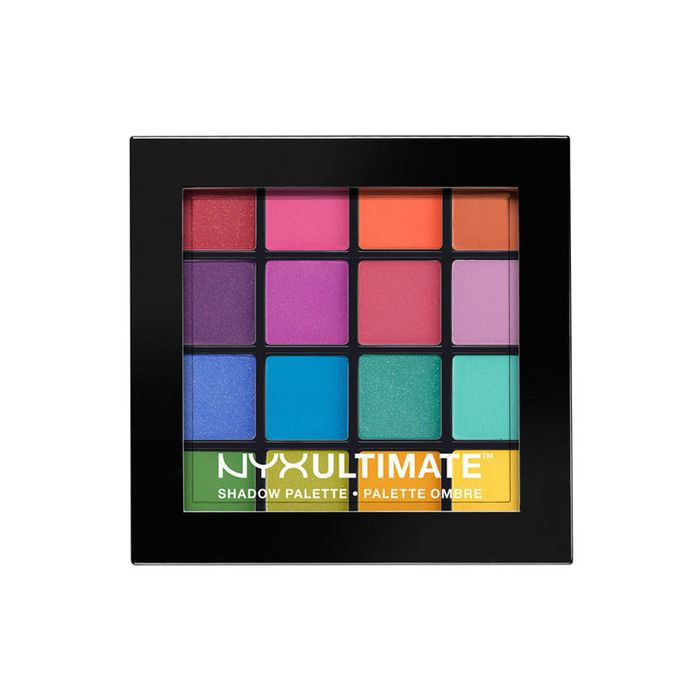best drugstore beauty products: Nyx Professional Makeup Ultimate Eyeshadow Palette in Brights
