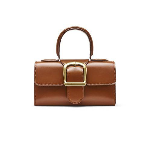Fall Handbag Shapes Rylan 3.2 Cognac Mini Satchel Bag