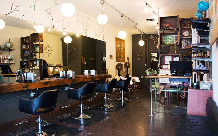 Hair parlor interior
