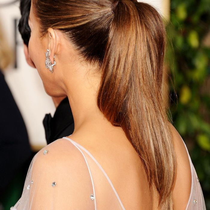 Jennifer Lopez Slicked-Back Ponytail