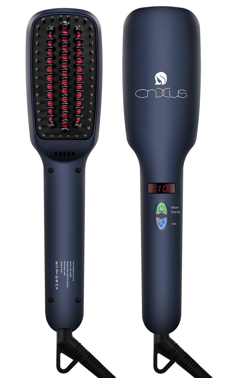 CNXUS Ceramic Hair Straightener Electric Brush