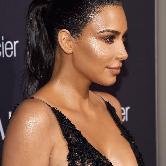 Kim Kardashian West Slicked-Back Ponytail