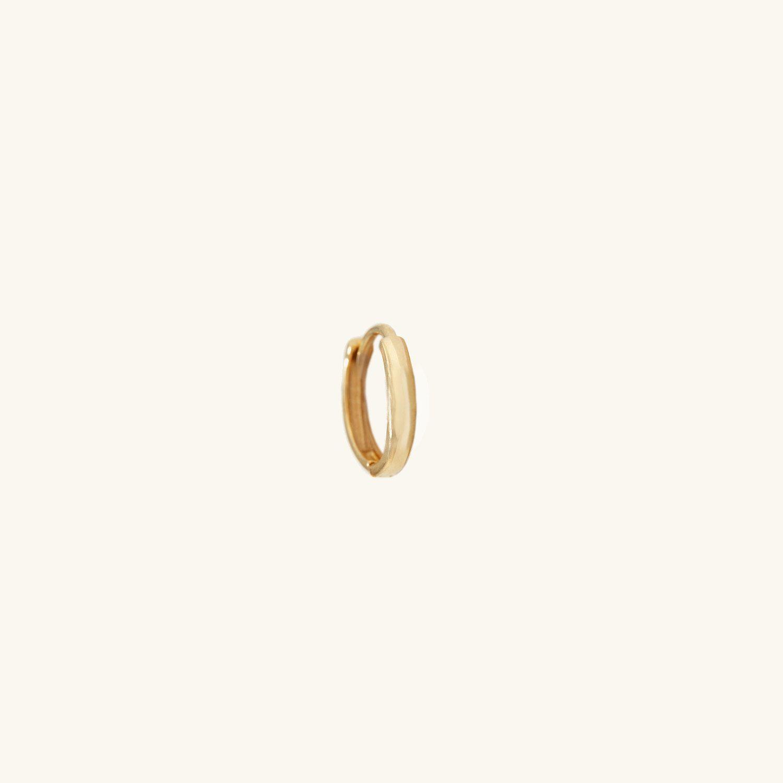 single gold hoop earring