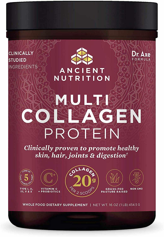 Ancient Nutrition Multi Collagen Peptides Protein Powder Pure