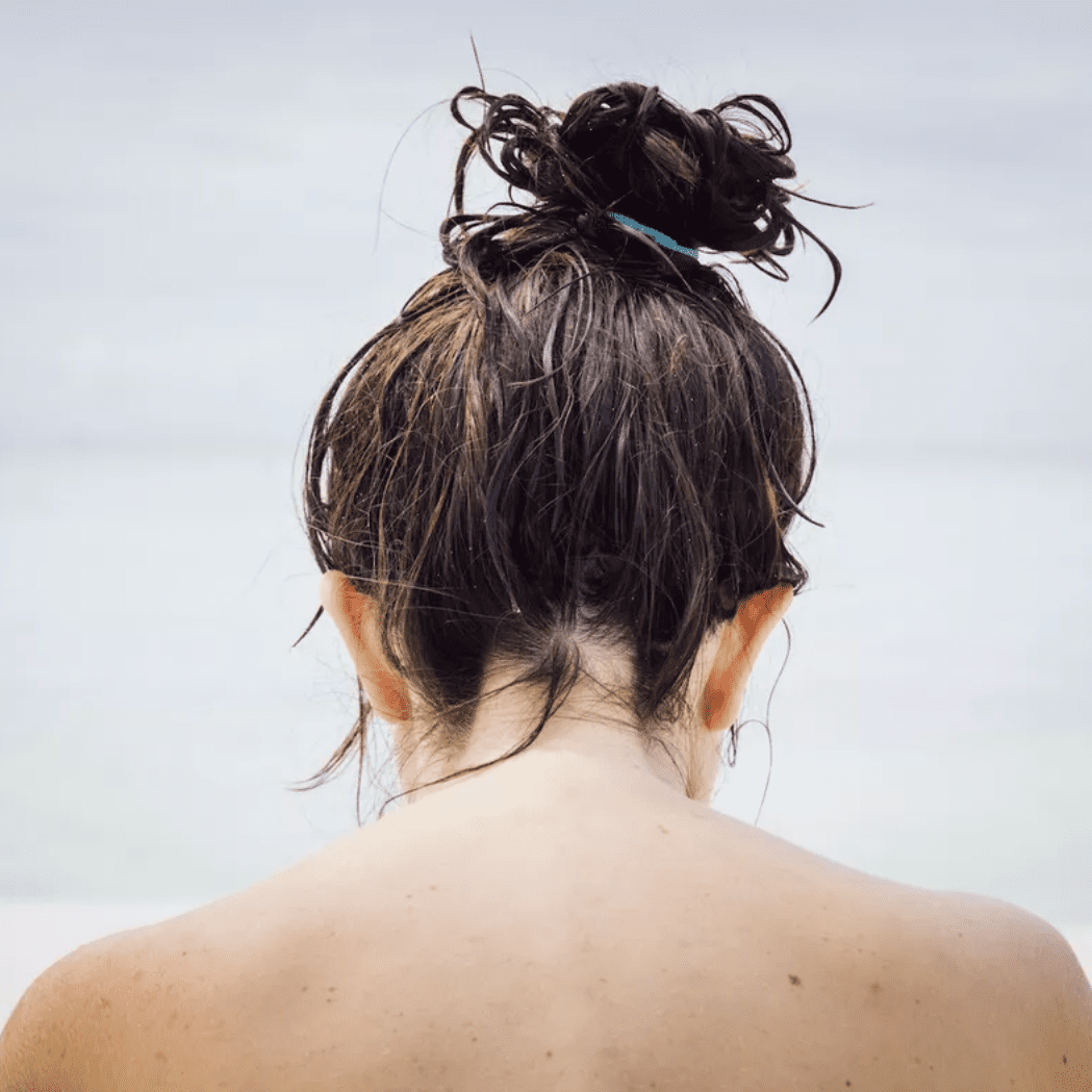 person with wet hair