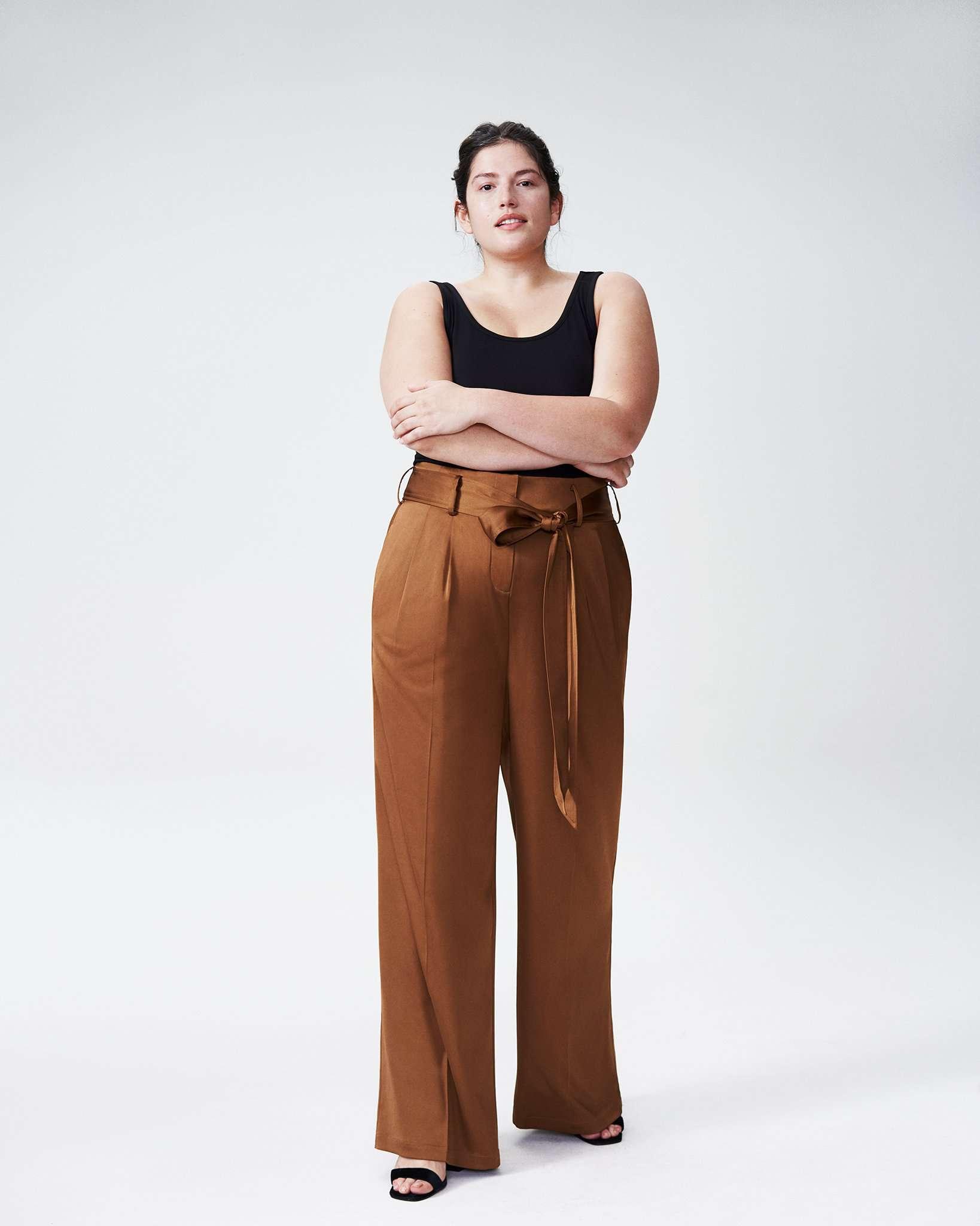 Universal Standard Tresa Wide Leg Tie Pants