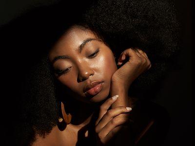 woman with glowing skin