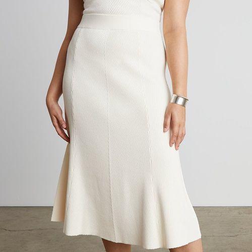Who What Wear Lulu Midi Herringbone Skirt