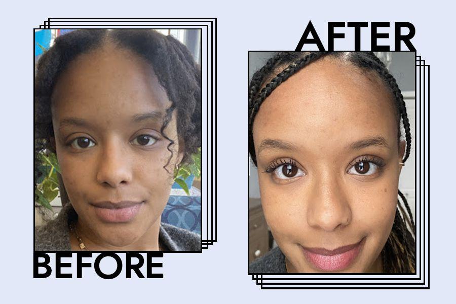 Perversion Waterproof Mascara: Before & After