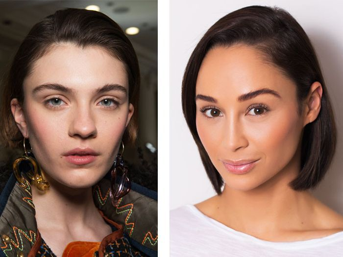 Two different women with strong, defined eyebrows