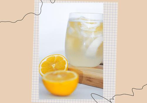 water and lemon