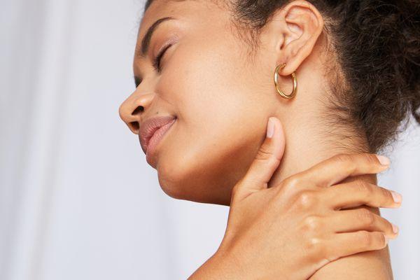 Woman neck massager