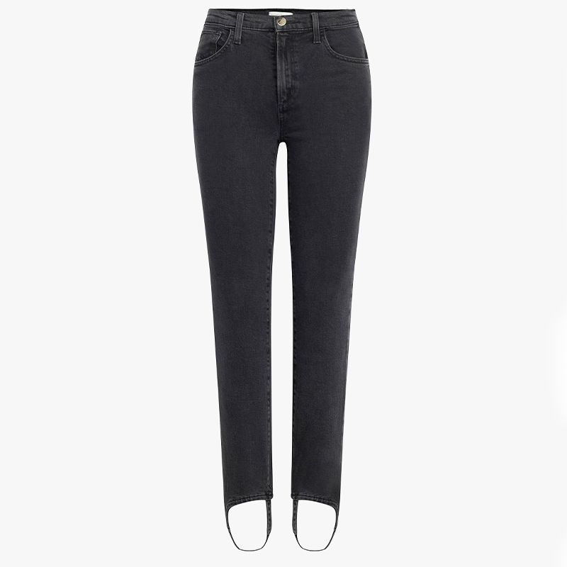 Straight Jeans With Stirrup