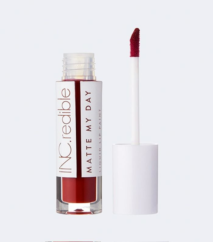 best dark red lipstick: INC.redible Matte My Day Liquid Lipstick–I'm Very Busy