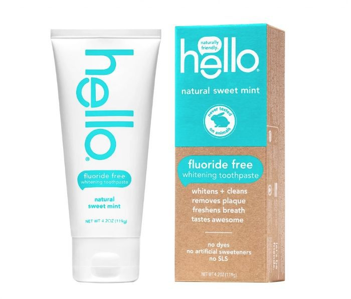 Hello Fluoride Free Whitening Toothpaste in Sweet Mint