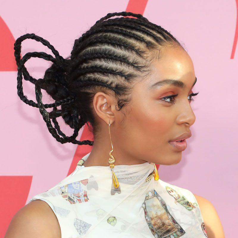 Cornrow Hairstyles Updo Yara Shahidi