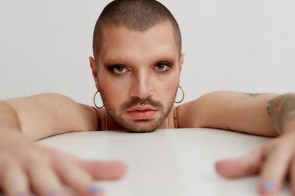 smoky eye makeup portrait