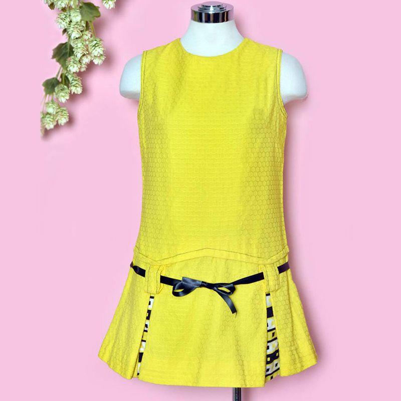 60s Yellow MOD Vintage Dress