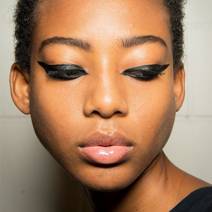 Image result for exaggerated cat eye liner