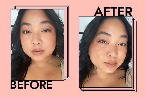 Mac Extra Dimension Skinfinish Highlighter in Oh, Darling! Results on Kristin Corpuz