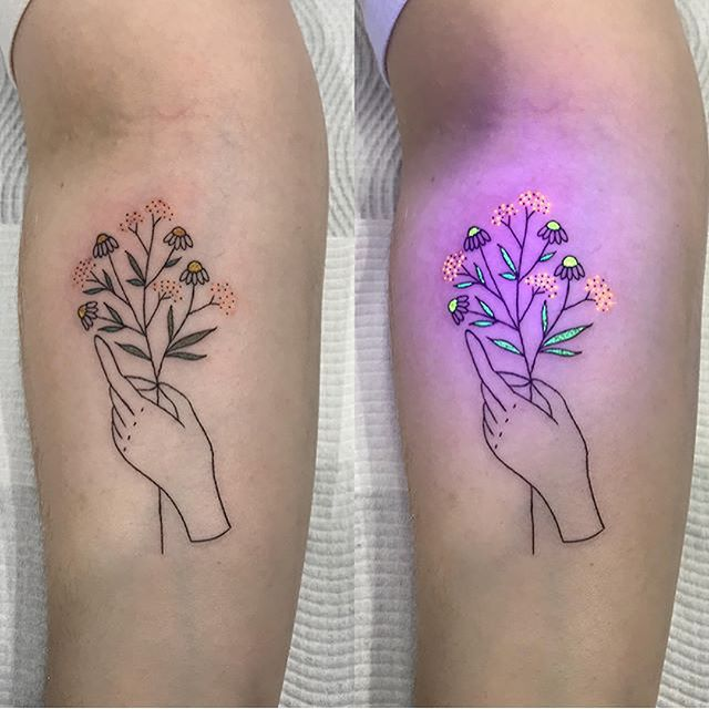 Yes, Glow-in-the-Dark Tattoos Exist—Here's What You Need To Know