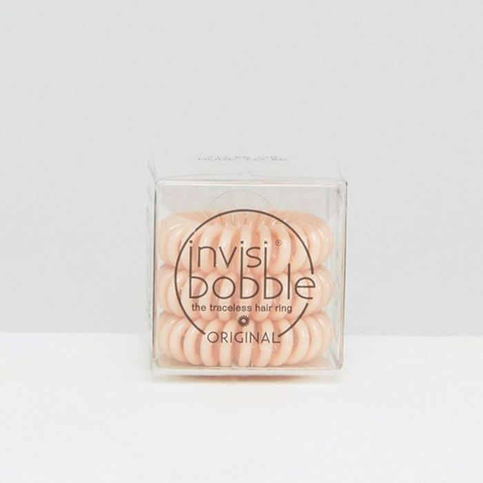 spiral hair ties: Invisibobble Original Hair Tie in To Be Or Nude To Be