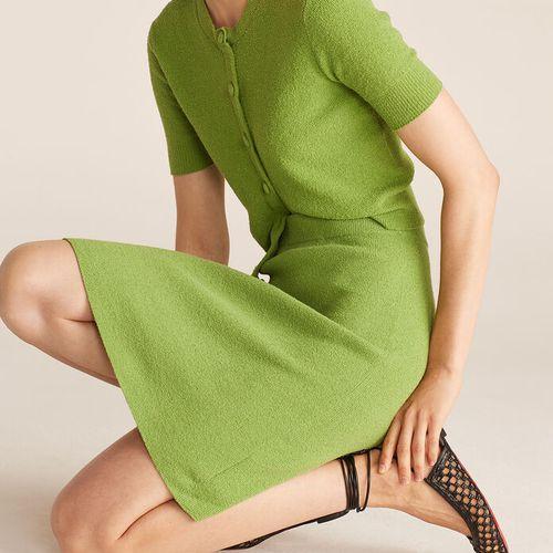 Rebecca Taylor Mini Bouclé Pencil Skirt