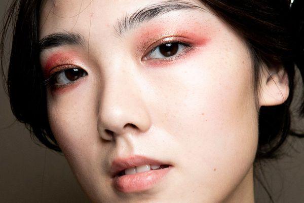 woman with glitter eyeshadow