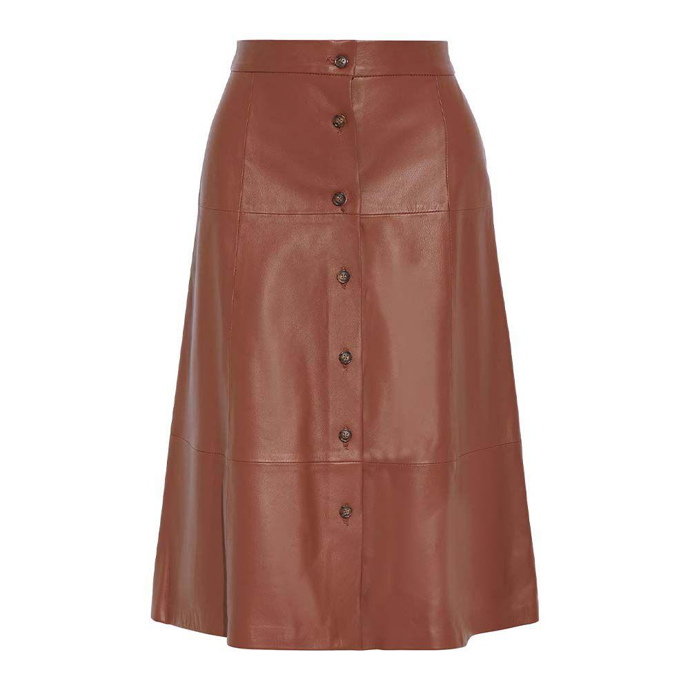 Estelle Leather Midi Skirt