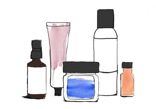 An illustration of beauty products.