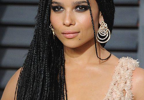 Zoe Kravitz long box braids and smoky eye