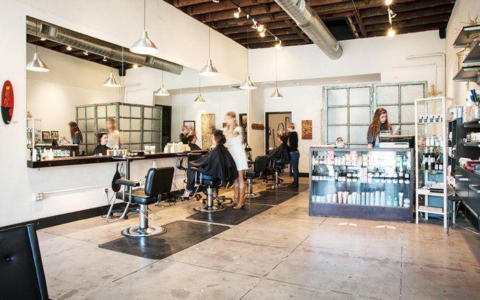 The Hive hair salon interior