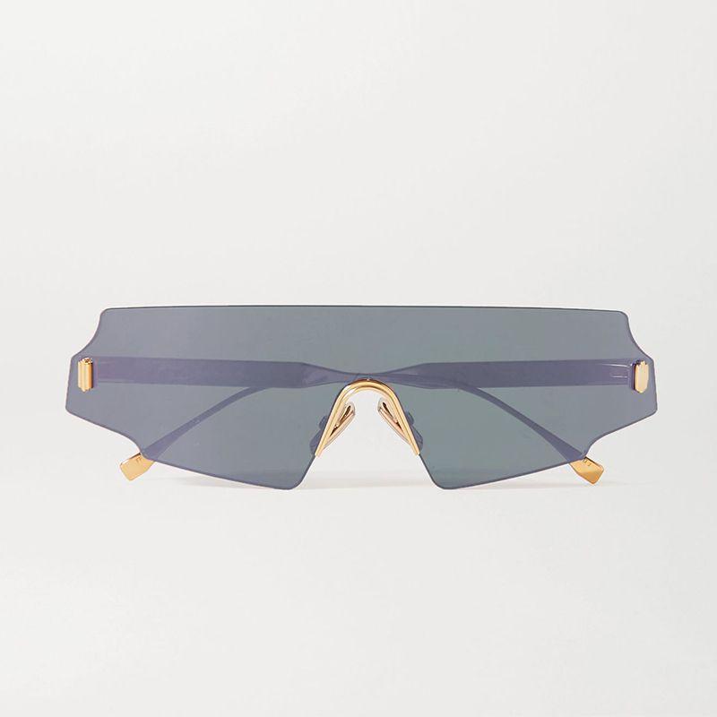 D-Frame Rose-Gold Sunglasses