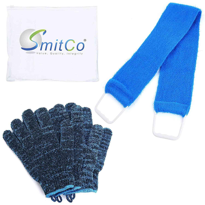 SMITCO Exfoliating Gloves and Back Washer