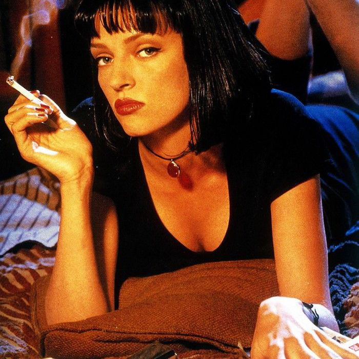 Uma Thurman wearing Rouge Noir nail polish in Pulp Fiction.