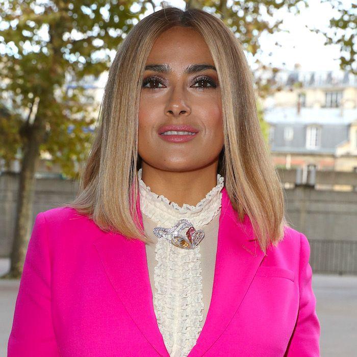 Salma Hayek Looks Stunning With Blonde Hair