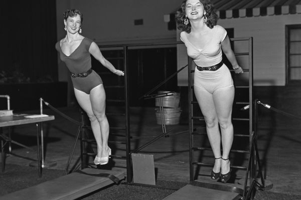 Women on a Vic Tanny Gym in the 1950s