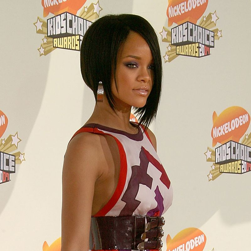 Rihanna Asymmetric Bob