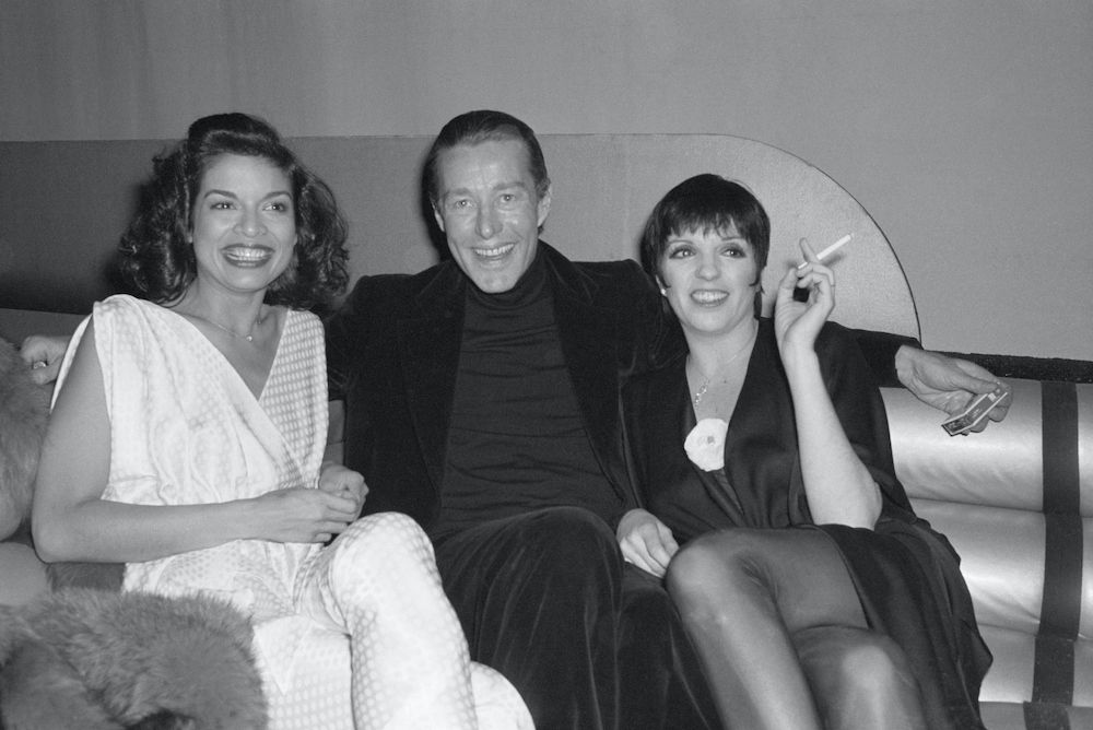 Actress Liza Minnelli (right) currently on Broadway in musical entitled