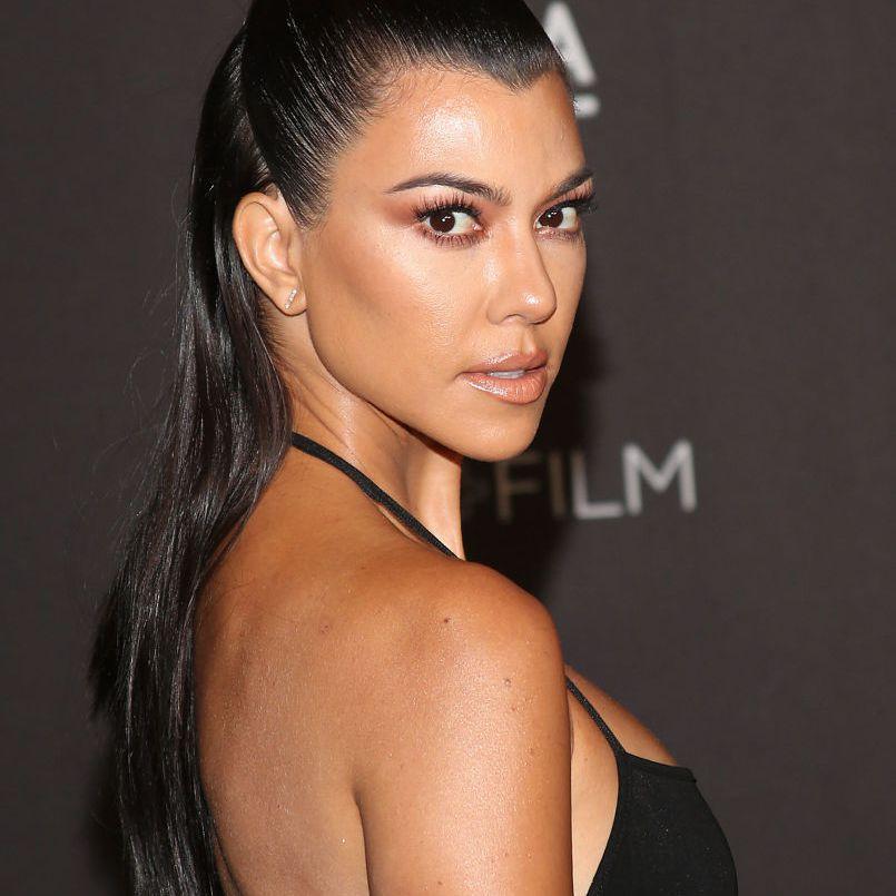 Kourtney Kardashian side profile