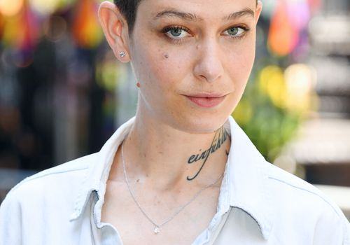 Asia Kate Dillon with short, low maintenance haircut