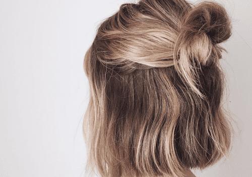 woman with bleach hair at home