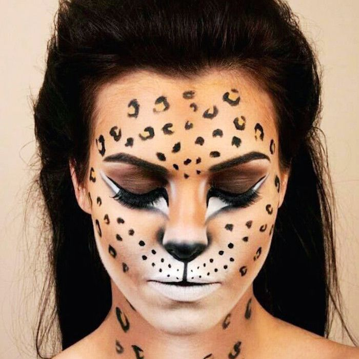 ... lion makeup tutorial video.) Leopard costume