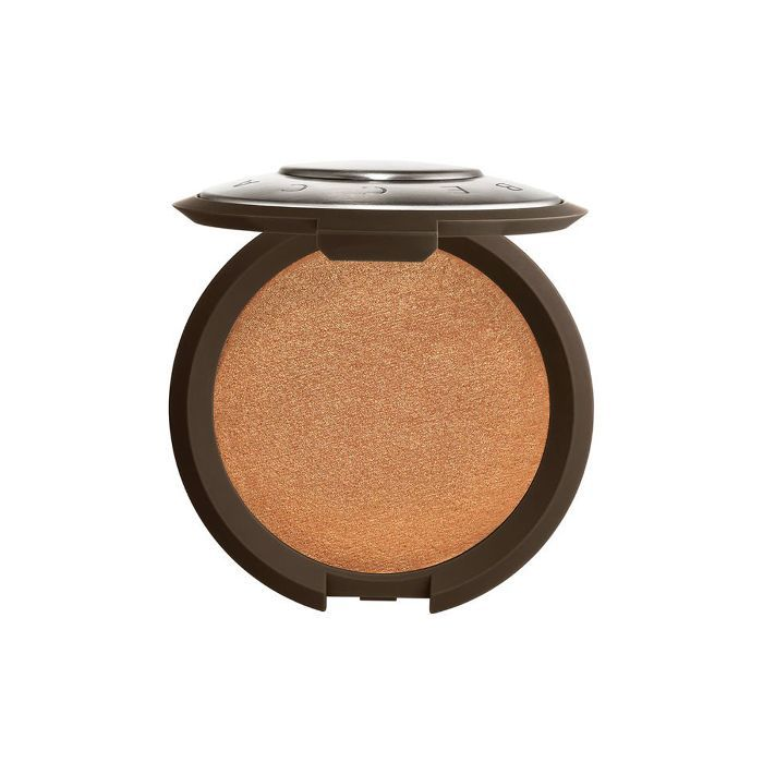 How to highlight: Becca Shimmering Skin Perfector Pressed Highlighter in Topaz
